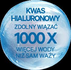 Kwas HIALURONOWY zdolny wiązać 1000x więcej wody niż sam waży